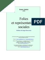JODELET, Folies et représentations sociales