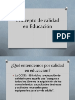 Concepto de calidad en Educación