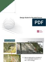 Rockfall Barrier Design