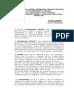 RECOMPOSICION TARIFARIA DE SERVICIOS PÚBLICOS PRESTADOS POR CONCESIONARIOS PRIVADOS-Feb-08
