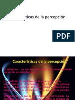 Características de la percepción
