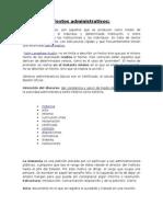 DocumentoTextos administrativos