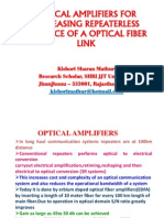 Optical Amplifiers for Increasing Repeaterless Distance of a Optical Fiber Link