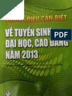 Nhung Dieu Can Biet Ve Tuyen Sinh Dai Hoc Cao Dang Nam 2013