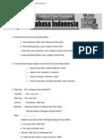 Soal Latihan UN SMP 2012 - Bahasa Indonesia (Plus Jawaban)