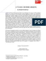 ANÉCDOTA Nº 03-2013 CRUZEIRO AREQUIPA . EL POLIFUNCIONAL