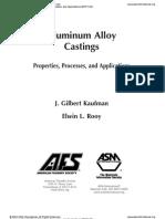 Aluminum Alloy Castings Properties
