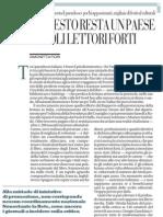 Un Paese Di Analfabeti e Di Festival Culturali - La Repubblica 16.03.2013