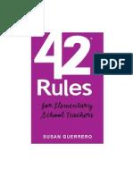 42 Rules for Elementary School Teachers Wp
