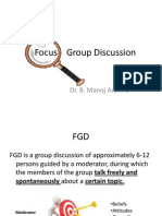 Qualitative Research Methods 2 - FGD