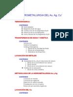 Curso de Hidrometalurgia Del Au, Ag y Cu