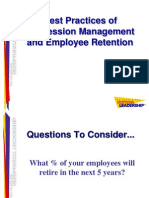 Best Practices of Succession Management and Employee Retention--Centre for Exceptional Leadership--June 2005