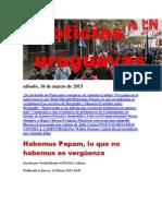 Noticias Uruguayas sábado 16 de marzo del 2013
