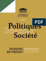 Politique Sciences Société à l'Assemblée Nationale