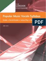 Popular Music Vocals Grades
