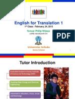 Translation 1 Class 1