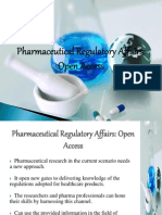 Journal of Pharmaceutical Regulatory Affairs
