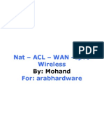 NAT,ACL,WAN,IPv6, Wireless by Mohand