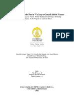 Iklim Politik Mesir Pasca Wafatnya Gamal Abdul Nasser - pdf