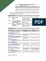 Resume of Mohammad Badiul Islam_March 2013