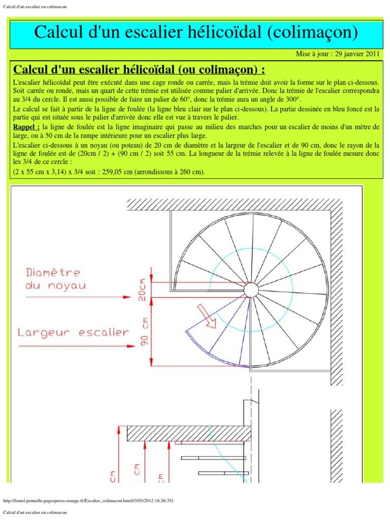 escalier en colimacon pdf