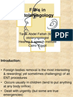 Foreign Bodies in Otolaryngology
