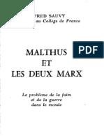 Malthus Et Les Deux Marx_1963