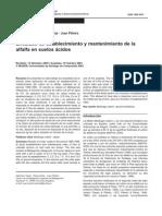 Alfalfa - Encalado de Establecimientos y Mantenimiento de La Alfalfa en Suelos Acidos