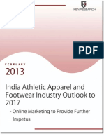 India Athletic Apparel and Footwear Industry to reach USD 2.9 billion by 2017