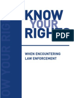 Know Your Rights-US Law Enforcement