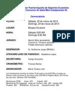 Convocatoria Concurso de Salto # 4 - 2013