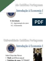 Introdução a Economia I