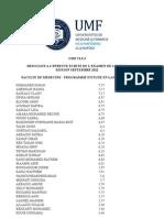 Resultats Examen Licence Umf Cluj 2012