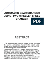 Automatic Gear Changer Using Two Wheeler Speed Changer