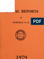 Annual Report Town of Hinsdale New Hampshire 1979