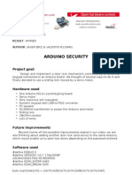 Life Hacks Winner Arduino Security