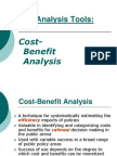 Cost-Benefit Analysis 2008