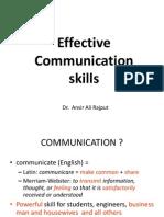 Effective_communication_Skills Dr Ansir Rajput