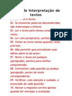 Dicas de interpretação de textos