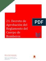 21 Decreto de Aprobación del Reglamento del Cuerpo de Bomberos