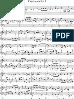 J S Bach - Art of the Fugue BWV 1080 Contrapunctus I - piano score
