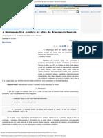 A Hermenêutica Jurídica na obra de Francesco Ferrara_ uma (re)leitura do _traTTa