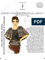 HP Fabric.com Holiday Heroine Cape Tank