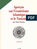 36254443 Apercus Sur l Esoterisme Islamique Et Le Taoisme Rene Guenon