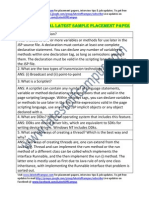 CDAC Sample Technical Placement Paper