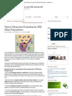 Ways to Memorize Formulas For JEE Main Preparation _ Crackiitjee