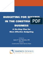 Better Budgeting for Contractors