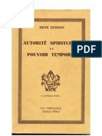 42256613 Rene Guenon Autorite Spirituelle Et Pouvoir Temporel
