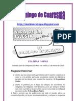 5o. DOMINGO DE CUARESMA-HOJAS DOMINICALES PARA NIÑOS | ALIANZA DE AMOR