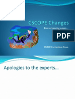 Cscope Changes 2011 12
